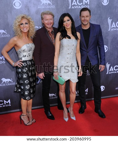 LOS ANGELES - APR 06:  Little Big Town arrives to the 49th Annual Academy of Country Music Awards   on April 06, 2014 in Las Vegas, NV.                 - stock photo