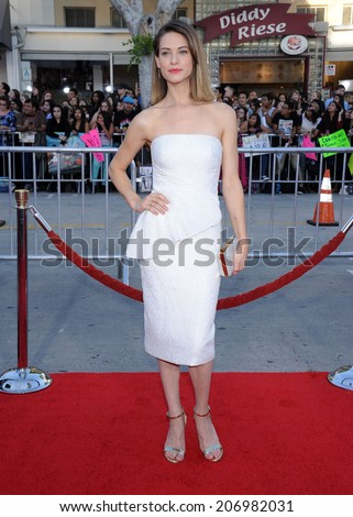 "LOS ANGELES - APR 13:  Lyndsy Fonseca arrives to the ""Neighbors"" World Premiere  on April 28, 2014 in Westwood, CA.                 - stock photo"