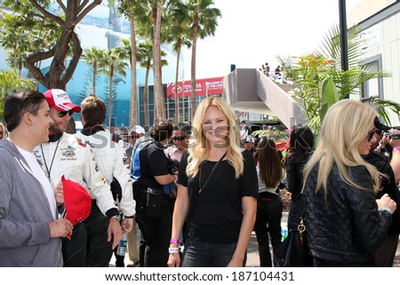 LOS ANGELES - APR 12:  Malin Akerman at the Long Beach Grand Prix Pro/Celeb Race Day at the Long Beach Grand Prix Race Circuit on April 12, 2014 in Long Beach, CA