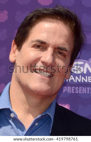 LOS ANGELES - APR 29:  Mark Cuban at the 2016 Radio Disney Music Awards at the Microsoft Theater on April 29, 2016 in Los Angeles, CA - stock photo
