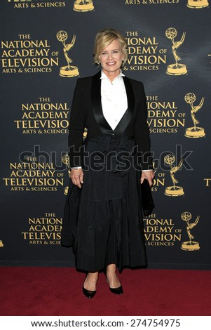 LOS ANGELES - APR 24: Mary Beth Evans at The 42nd Daytime Creative Arts Emmy Awards Gala at the Universal Hilton Hotel on April 24, 2015 in Los Angeles, California - stock photo