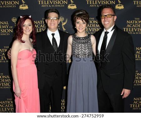LOS ANGELES - APR 24: Matt Englebert, Eli Englebert at The 42nd Daytime Creative Arts Emmy Awards Gala at the Universal Hilton Hotel on April 24, 2015 in Los Angeles, California - stock photo