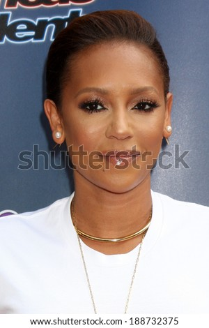 """LOS ANGELES - APR 22:  Mel Brown, aka Mel B at the """"America's Got Talent"""" Los Angeles Auditions Arrivals at Dolby Theater on April 22, 2014 in Los Angeles, CA - stock photo"""