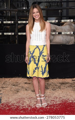 "LOS ANGELES - APR 06:  Melissa Benoist arrives to the ""The Longest Ride"" Los Angeles Premiere  on April 06, 2015 in Hollywood, CA                 - stock photo"