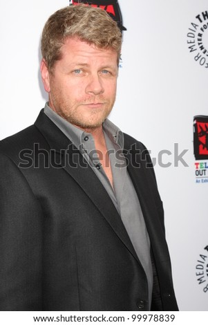 "LOS ANGELES - APR 12:  Michael Cudlitz arrives at Warner Brothers ""Television: Out of the Box"" Exhibit Launch at Paley Center for Media on April 12, 2012 in Beverly Hills, CA - stock photo"