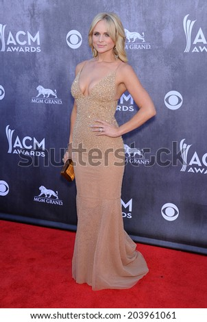 LOS ANGELES - APR 06:  Miranda Lambert arrives to the 49th Annual Academy of Country Music Awards   on April 06, 2014 in Las Vegas, NV.                 - stock photo