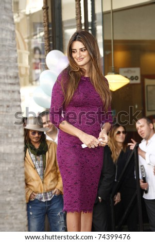 LOS ANGELES - APR 01: Penelope Cruz at a ceremony where she is honored with a star on the Hollywood Walk of Fame on April 1, 2011 in Los Angeles, California.