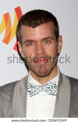 LOS ANGELES - APR 21:  Perez Hilton arrives at the 23rd GLAAD Media Awards at Westin Bonaventure Hotel on April 21, 2012 in Los Angeles, CA - stock photo