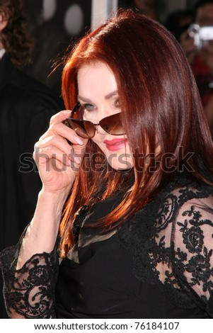 "LOS ANGELES - APR 27:  Priscilla Presley arriving at the TCM Classic Film Festival &  World Premiere Of ""An American In Paris"" at Grauman's Chinese Theater on April 27, 2011 in Los Angeles, CA.."