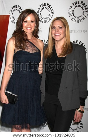 LOS ANGELES - APR 14:  Rachel Boston, Mary McCormack arrive at 'In Plain Sight' at The Paley Center on April 14, 2012 in Beverly Hills, CA