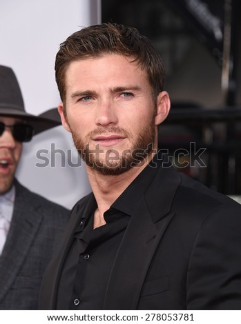 "LOS ANGELES - APR 06:  Scott Eastwood arrives to the ""The Longest Ride"" Los Angeles Premiere  on April 06, 2015 in Hollywood, CA                 - stock photo"