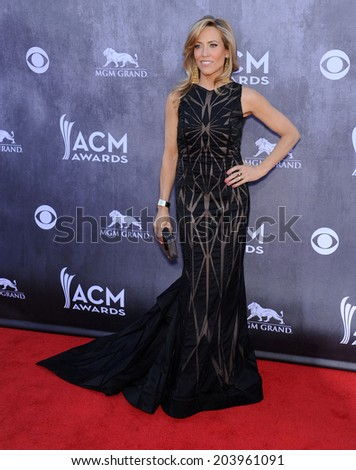 LOS ANGELES - APR 06:  Sheryl Crow arrives to the 49th Annual Academy of Country Music Awards   on April 06, 2014 in Las Vegas, NV.                 - stock photo