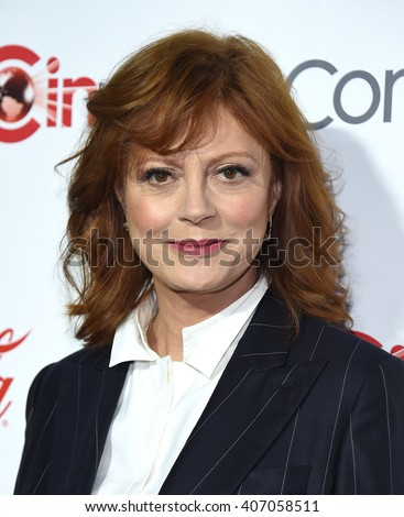 LOS ANGELES - APR 14:  Susan Sarandon arrives to the Cinema Con 2016: Awards Gala  on April 14, 2016 in Las Vegas, NV.                 - stock photo