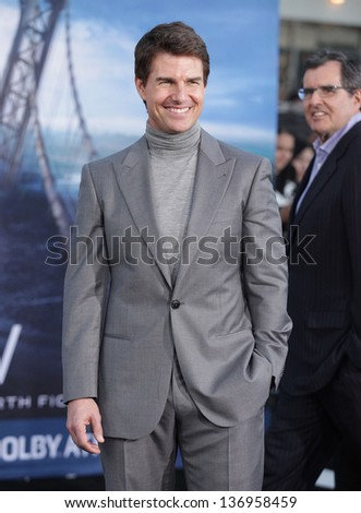 "LOS ANGELES - APR 10:  Tom Cruise arrives to the ""Oblivion"" US Premiere  on April 10, 2013 in Hollywood, CA. - stock photo"