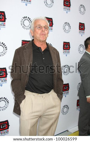 "LOS ANGELES - APR 12:  William Devane arrives at Warner Brothers ""Television: Out of the Box"" Exhibit Launch at Paley Center for Media on April 12, 2012 in Beverly Hills, CA - stock photo"