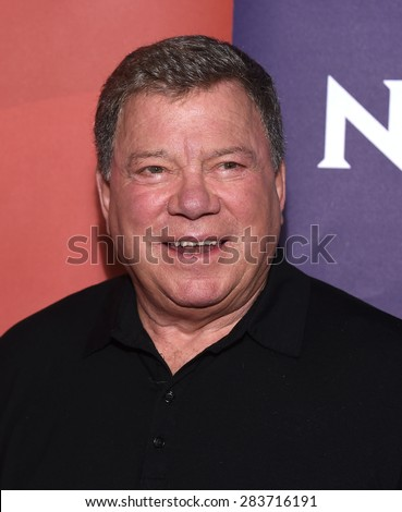 LOS ANGELES - APR 02:  William Shatner arrives to the NBCUniversal's Summer Press Day 2015  on April 02, 2015 in Hollywood, CA                 - stock photo