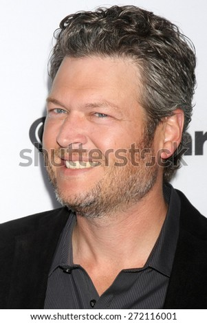 """LOS ANGELES - April 23:  Blake Shelton at the """"The Voice"""" Summer Break Party - Top 8 at the Pacific Design Center on April 23, 2015 in West Hollywood, CA - stock photo"""