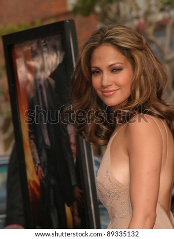 LOS ANGELES - APRIL 18: Jennifer Lopez at the 'Man On Fire' premiere on April 18, 2004 in Westwood, Los Angeles, California - stock photo