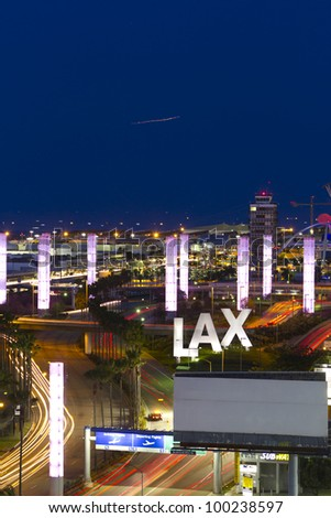 LOS ANGELES - APRIL 7: LAX airport on April 7, 2012 in Los Angeles, CA.the primary airport serving the Greater Los Angeles Area, the second-most populated metropolitan area in US(6th busiest airport)