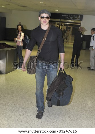 LOS ANGELES-APRIL 23: Twilight actor Kellan Lutz at LAX airport. April 23 in Los Angeles, California 2011