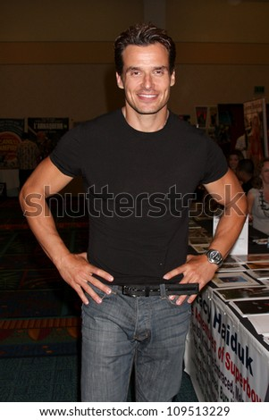 """LOS ANGELES - AUG 4:  Antonio Sabato Jr appearing at the """"Hollywood Show"""" at Burbank Marriott Convention Center on August 4, 2012 in Burbank, CA - stock photo"""
