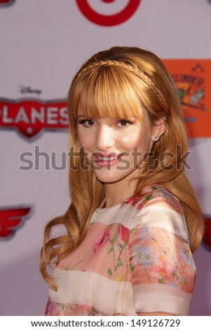 """LOS ANGELES - AUG 5:  Bella Thorne arrives at the """"Planes"""" World Premiere at the El Capitan on August 5, 2013 in Los Angeles, CA - stock photo"""