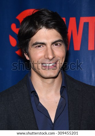 LOS ANGELES - AUG 10:  Brandon Routh arrives to the Summer 2015 TCA's - CBS, The CW & Showtime  on August 10, 2015 in West Hollywood, CA                 - stock photo