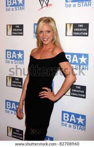 """LOS ANGELES - AUG 11:  Brittany Snow arriving at the """"be A STAR"""" Summer Event  at Andaz Hotel on August 11, 2011 in Los Angeles, CA - stock photo"""