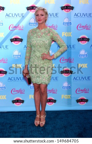 LOS ANGELES - AUG 11:  Brittany Snow at the 2013 Teen Choice Awards at the Gibson Ampitheater Universal on August 11, 2013 in Los Angeles, CA - stock photo