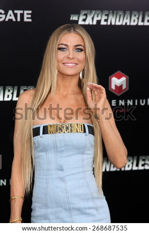 "LOS ANGELES - AUG 11:  Carmen Electra at the ""Expendables 3"" Premiere at TCL Chinese Theater on August 11, 2014 in Los Angeles, CA
