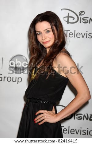 LOS ANGELES - AUG 7:  Caterina Scorsone arriving at the Disney / ABC Television Group 2011 Summer Press Tour Party at Beverly Hilton Hotel on August 7, 2011 in Beverly Hills, CA
