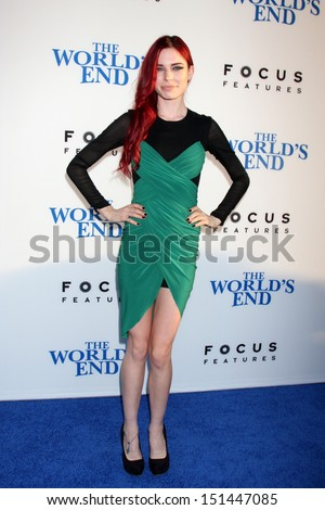 "LOS ANGELES - AUG 21:  Chloe Dykstra at ""The World's End"" Premiere at the ArcLight Hollywood Theaters on August 21, 2013 in Los Angeles, CA"