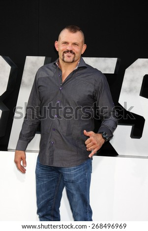 "LOS ANGELES - AUG 11:  Chuck Liddell at the ""Expendables 3"" Premiere at TCL Chinese Theater on August 11, 2014 in Los Angeles, CA  - stock photo"