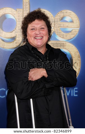 "LOS ANGELES - AUG 6:  Dot Marie Jones arrives at the ""Glee The 3D Concert Movie""."" at Regency Village Theater on August 6, 2011 in Westwood, CA - stock photo"