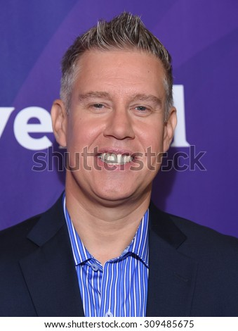 LOS ANGELES - AUG 12:  Ed Wasielewski arrives to the arrives to the Summer 2015 TCA's - NBCUniversal  on August 12, 2015 in Beverly Hills, CA                 - stock photo