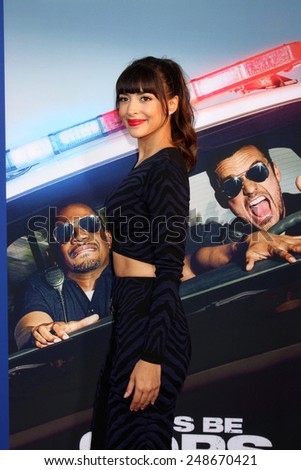 "LOS ANGELES - AUG 7:  Hannah Simone at the ""Let's Be Cops"" Premiere at the ArcLight Hollywood Theaters on August 7, 2014 in Los Angeles, CA  - stock photo"