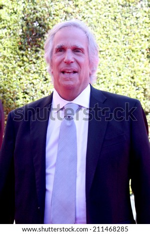 LOS ANGELES - AUG 16:  Henry Winkler at the 2014 Creative Emmy Awards - Arrivals at Nokia Theater on August 16, 2014 in Los Angeles, CA - stock photo