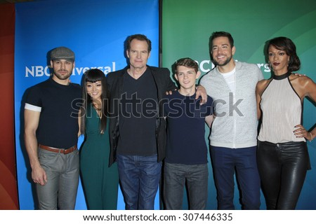 LOS ANGELES - AUG 13:  Heroes Reborn Cast at the NBCUniversal 2015 TCA Summer Press Tour at the Beverly Hilton Hotel on August 13, 2015 in Beverly Hills, CA - stock photo