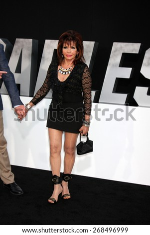 "LOS ANGELES - AUG 11:  Jackie Stallone at the ""Expendables 3"" Premiere at TCL Chinese Theater on August 11, 2014 in Los Angeles, CA  - stock photo"