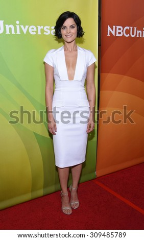 LOS ANGELES - AUG 12:  Jaimie Alexander arrives to the arrives to the Summer 2015 TCA's - NBCUniversal  on August 12, 2015 in Beverly Hills, CA                 - stock photo