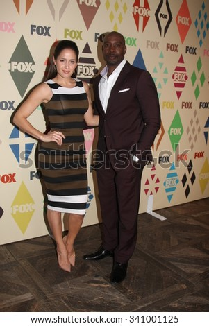 LOS ANGELES - AUG 6:  Jaina Lee Ortiz, Morris Chestnut at the FOX TCA Summer 2015 All-Star Party at the Soho House on August 6, 2015 in West Hollywood, CA - stock photo