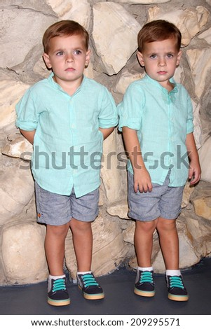 "LOS ANGELES - AUG 2:  Jakob Kring, Jaxon Kring at the ""General Hospital"" Fan Club Luncheon 2014 at the Sportsman's Lodge on August 2, 2014 in Studio City, CA"