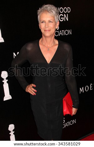 LOS ANGELES - AUG 13:  Jamie Lee Curtis at the HFPA Hosts Annual Grants Banquet - Arrivals at the Beverly Wilshire Hotel on August 13, 2015 in Beverly Hills, CA - stock photo