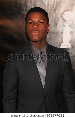 LOS ANGELES - AUG 13:  John Boyega at the HFPA Hosts Annual Grants Banquet - Arrivals at the Beverly Wilshire Hotel on August 13, 2015 in Beverly Hills, CA - stock photo