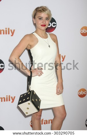 LOS ANGELES - AUG 4:  Jordan Hinson at the ABC TCA Summer Press Tour 2015 Party at the Beverly Hilton Hotel on August 4, 2015 in Beverly Hills, CA - stock photo