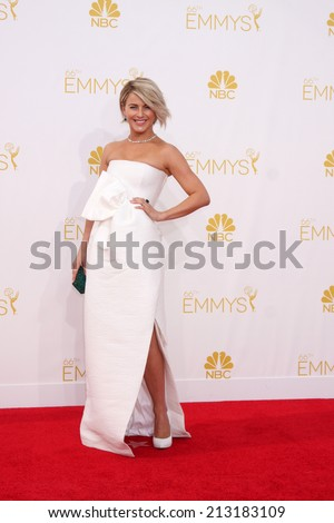 LOS ANGELES - AUG 25:  Julianne Hough at the 2014 Primetime Emmy Awards - Arrivals at Nokia Theater at LA Live on August 25, 2014 in Los Angeles, CA - stock photo