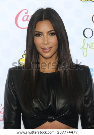 LOS ANGELES - AUG 10:  Kim Kardashian arrives to the Teen Choice Awards 2014  on August 10, 2014 in Los Angeles, CA.                 - stock photo