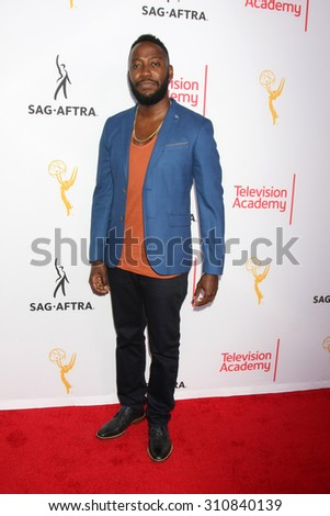 LOS ANGELES - AUG 27:  Lamorne Morris at the Dynamic & Diverse Emmy Celebration at the Montage Hotel on August 27, 2015 in Beverly Hills, CA - stock photo