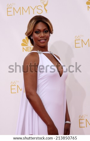 LOS ANGELES - AUG 25:  Laverne Cox at the 2014 Primetime Emmy Awards - Arrivals at Nokia at LA Live on August 25, 2014 in Los Angeles, CA