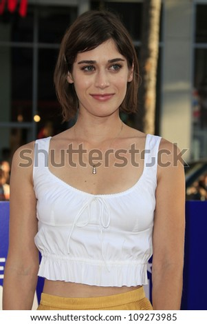 LOS ANGELES - AUG 2: Lizzy Caplan at the premiere of Warner Bros. Pictures' 'The Campaign' at Grauman's Chinese Theater on August 2, 2012 in Los Angeles, California - stock photo